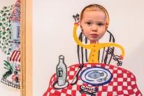 Børnene lærer Hr. Struganoff universet at kende gennem leg, sanselighed og bevægelse. Mange børn bliver nysgerrige og vil gerne læse mere om Hr. Struganoffs mad-oplevelser. Foto: Christoffer Askman Photography
